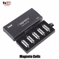 Wholesale Wholesale Caps Original - 100% Original Yocan Magneto Replacement Coils Head Ceramic Wax Coil With Magnetic Coil Cap And Dab Tool