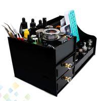 caja mod stands al por mayor-Demon Killer Storage Box Lo nuevo Ecig Display Showcase Soporte Estante Holder para Cigarrillo electrónico RDA Botellas Mods DHL Gratis