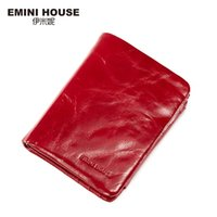 Wholesale Oil House - Wholesale- EMINI HOUSE Vintage Oil Wax Genuine Leather Wallet Women Luxury Brand Coin Purse Mini Travel Wallet Womens Wallets And Purses