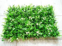 Wholesale Artificial Grass Bouquet - 40 60 Cm Diy Artificial Turf 3d Wall Stickers Garden Decor Plants Grass Green Landscaping Square Lawn Eucalyptus Leaves