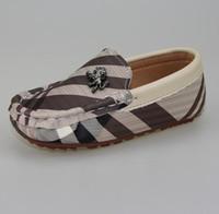 bebek deri ayakkabıları lastik tabanlar toptan satış-2017 Ilk Yürüteç Bebek Deri Sneakers Erkek Bebek Kauçuk Taban Yürüyor Boy Ayakkabı Sneakers Çocuk Ayakkabıları Erkek Loafer'lar