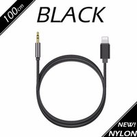 3FT 1M 3.5mm Car Audio AUX Cabo de extensão Braided Woven Wire Auxiliary Stereo Jack Male Lead para Iphone 7 6 6plus Android Mobile Speaker