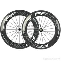Wholesale 88mm Fast Forward FFWD Full Carbon Bike Bicycle Wheels Wheelset K Glossy Clincher Tubular Bike Rims With Novatec Hubs White Decals