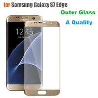 Wholesale Original Replacement Screen Glass - Original Quality Touch Panel Outer Glass for Samsung Galaxy S7 Edge G935F G935 Screen Replacement Front Glass LCD Lens With Logo