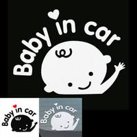 предупреждающая наклейка ветрового стекла оптовых-3D светоотражающий винил стайлинг Прекрасный мультфильм ребенок в предупреждение автомобиля наклейка для заднего лобового стекла CEA_30W