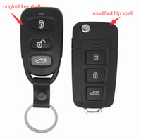 Wholesale Hyundai Sonata Nf - Fob Replacement Case 3 Buttons Modified Flip Floding Remote Key Shell Blank Key Cover Fit For Hyundai Sonata NF +Free Shipping