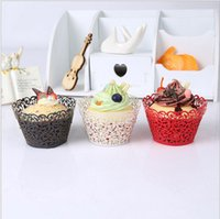Wholesale supplies cakes for sale - Group buy 100 brand Laser Cut Hollow Cupcake Wrap Filigree Vine Paper Cake Wrappers Baking Tools for Wedding Birthday Party Festival Supplies
