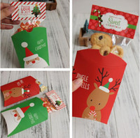 Wholesale Gift Wrapped Presents - 200pcs New Christmas Gifts Packing Candy Boxes Wrapping Box for Christmas and New year Santa Claus Present Packing box