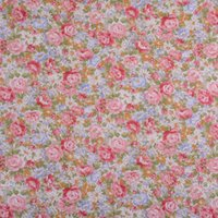 Wholesale Shabby Chic cm Wide Pink Roses Printed Cotton Poplin Fabric Floral Tilda Cloth Patchwork Flower Sewing Tissue Half Yard