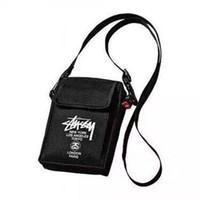 Wholesale Cotton Canvas Messenger Men - Tide brand black Messenger bag shoulder bag backpack men and women fashion bags
