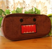 Wholesale Domo Pens - Wholesale- Kawaii DOMO KUN 20CM Pen Pencil BAG Pouch ; 10CM Coin BAG Purse , Women Handbag Wallet Pouch Pocket BAG