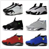 Wholesale Shoes Sneakers Shape Ups - retro 14 basketball shoes men sneakers Oxidized black green black toe blue red car shape cool grey US13
