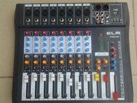 Wholesale Dj Audio Mixers - Wholesale- NFS2RU CT80S-USB 8 Channels Mixing Console Equipment Professional Audio DJ Mixer