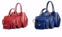 Wholesale Leather Body Pieces - Brands High Quality PU Leather Luxury Handbags Women's Designer Black Composite Bags 5 Pieces Sets Bolsas Feminina
