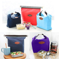 Wholesale Cooler Warmer Bags - New Outdoor Lunch Bag Picnic bag Iconic Lunch Pouch Carry Tote Container Warmer Cooler Bag Nylon Storage Bags 27*39*8cm WX-B08