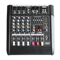 Wholesale Audio Power Mixer - Wholesale- Freeboss PT5-USB 5Mono Channels 16 DSP Effects 2*250W Professional USB Powered Audio Mixer Console