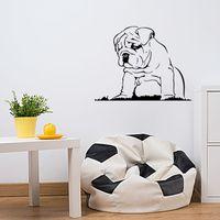 Wholesale Bulldog Vinyl - New Style Languid Dog Vinyl Wall Sticker Bulldog Puppy Wall Decal Home Decor Art Mural Decal DIY