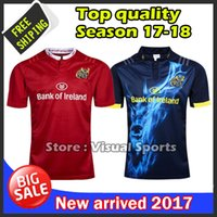 Wholesale Munster Rugby jerseys best quality MUNSTER rugby home away men Munster shirts size S XL