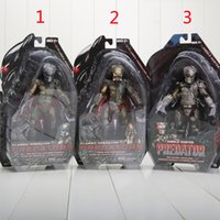 "Wholesale Predator Toys - Wholesale- Retail 8"" 20CM NECA Predator Series 8 Classic Predator 25th Anniversary Jungle Hunter Figure Model Toy"