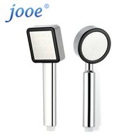 chrome single head fixed support type wholesale jooe high pressure water saving shower head abs plastic chrome square or round handheld bath shower head
