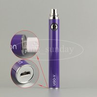 Wholesale E Cigarette Ego V Tank - UGO V T 650 900 1100mah EVOD EGO 510 Thread Batteries Micro USB Passthrough Bottom Charge with Cable E Cigs Cigarette Atomizer Tank