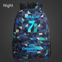 Wholesale Travel Bags For Kids - 7# Bag Ronaldo Backpacks Fashion School Backpack For Teenagers Boy Girls Travel School Style Nylon Backpacks Kids Gift