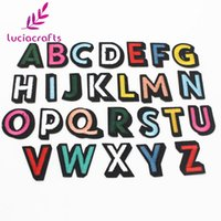 Wholesale Craft Numbers - Lucia crafts Number Alphabet Letter Patches Embroidered Iron On Patch For Clothing Badges Paste For Bag Pants Sewing 082007288