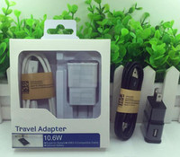 Wholesale iphone data sync adapter for sale – best 2 in EU or US Plug Adapter Wall Charger Set USB cable Data Sync Cable For Samsung With Retail Packing