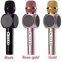Wholesale Cell Phone Wholesale Smartphone - E103 Hot Handheld Cell Phone Karaoke Microphone with Speaker Magic Karaoke Player Wireless Bluetooth for iPhone smartphone outdoor KTV DHL