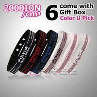 Wholesale Power Ionics - Power Ionics Basketball Silicone Band Wristband Bracelet Classic Style Sport Titanium 2000 ions Balance Healthy Body Color PT001