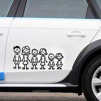 Wholesale Custom Car Stickers Decals - car styling Custom Family Member Viny Decal Car Stick Figure DIY Adhesive Window Car Stickers Waterproof Auto Sticker