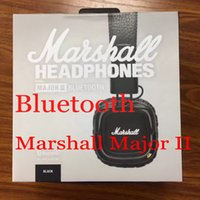 Wholesale bluetooth wireless monitor - Marshall Major II Bluetooth Headphones With Mic Deep Bass DJ HiFi Headphone Headset Professional DJ Monitor Earphone with retail package