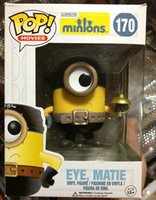 Wholesale Wholesale Mini Despicable Figures - 161154 Despicable Me 3 Eye Matie Minions Free shiping Funko POP Original PVC God stole Action figure New arrival Hot sales gift For Childre