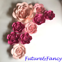 Paper flowers for wedding bouquet australia new featured paper 9pcs mix pinks rose giant paper flowers for wedding backdrops decorations kids room deco showcase windows display deco mix flower styles mightylinksfo