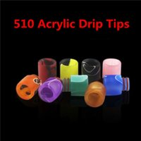 Wholesale free bear pattern - Colorful Acrylic 510 Drip Tips Wide Bore Drip Tip Pretty pattern drip tips for RDAs Vapor Tank Free Ship