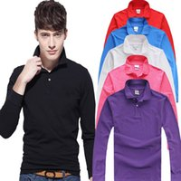 Wholesale Purple Golf Shirts Men - China sales real brand high quality luxury men long-sleeved Polo shirt with long sleeve Polo shirt, spring and autumn season golf Polo shirt