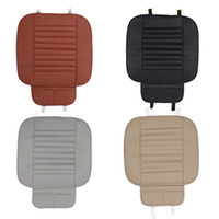 Wholesale Black Car Seat Covers - PU Leather Bamboo Strips Charcoal Cushion Car Seat Cover Four Seasons General Monolithic Summer Slip Mat Car Seat Cushion