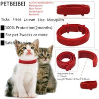 Wholesale Cat Flea Tick Collars - wholesale Hot Adjustable Pet Collar Cat Protection Neck Ring Flea Tick Mite Louse Remedy Coleira Para Gato for Free Shipping