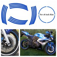 Wholesale Suzuki Hub - Car&Motorcycles Styling Tire Rim Cover Tyre Rim Decals Tire Protector Hub Wheel Stickers Strip For BMW Honda Suzuki Yamaha