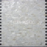 Wholesale 11 square feet White square shell mosaic tile groutless mother of pearl kitchen backsplash shower luster bathroom tiles