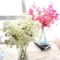 ingrosso fiore artificiale cinese per la decorazione-all'ingrosso cinese fiore di ciliegio rosa fiore per la casa e decorazione di nozze artificiali falso fiore di simulazione