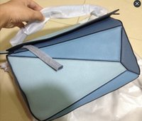 Wholesale Picture Puzzles - Real pictures Genuine Leather puzzle zippy bag brand inspired fashion women Lo 153 Totes have 5 methods Classic Two-tone 29*19*13cm