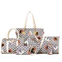 Wholesale Nylon Crossbody - 2017 Euramerican fashion Lash bag 6pcs set women single shoulder bags messenger bag crossbody tote bag sets handbags diamond lattice