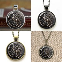 Wholesale games thrones inspired pendants for sale - Group buy 10pcs Handmade Vintage Style Game of thrones Inspired pendant Glass Necklace keyring bookmark cufflink earring bracelet