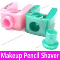 Wholesale Eye Shaver - Wholesale- 1 piece Makeup Pencil Sharpener Eyebrow Pencil Shaver Eye Liner Lip Liner Sharpener Portable Cosmetic Pen one Hole Shaver Tools