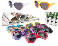 Wholesale Cheap Polarized Sunglasses Wholesale - 13 Colors Fashion Love Heart Shape Multicolor Sunglasses Plastic Party Glasses Frame UV400 Cheap Sun Glasses