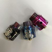 Wholesale Colour Tips - New Apocalypse GEN 2 RDA Atomizer Zombie colour With Wide Bore Resin Drip Tip 24mm 3 Colors Fit 510 TOP quality Free DHL