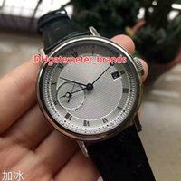 Wholesale Hand Watch Machine - High quality brand automatic machine men's calendar watch stainless steel silver carving pattern case original watch buckle