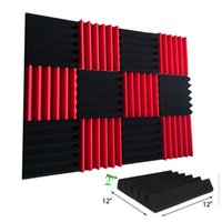 Wholesale 12 Pack Wedge RED CHARCOAL Acoustic Soundproofing Studio Foam Tiles x x