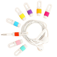 Wholesale link cable cord online - USB Cable Data Line Earphone Line Protector Cover Saver Liberator For iPhone Android Links Headphone Cord